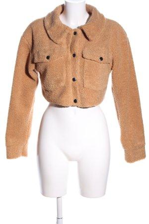MissPap Fake Fur Jacket light orange casual look