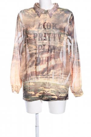 MIssy Langarm-Bluse Camouflagemuster Casual-Look