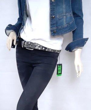 mister*lady Pantalón de tubo negro-gris antracita