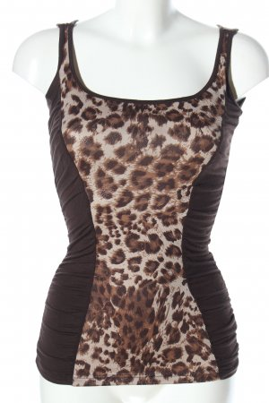 mister*lady Strappy Top brown animal pattern casual look