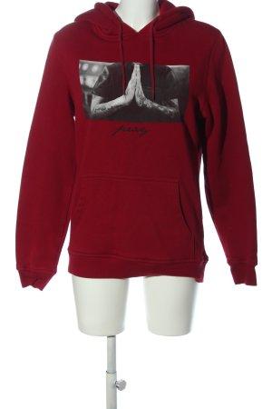Mister Tee Hooded Sweatshirt themed print casual look