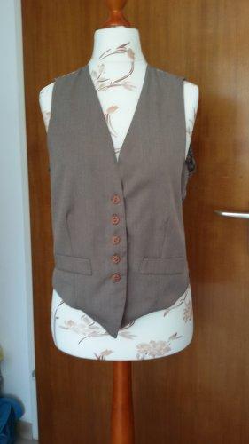 Made in Italy Chaleco de vestir marrón claro-negro tejido mezclado