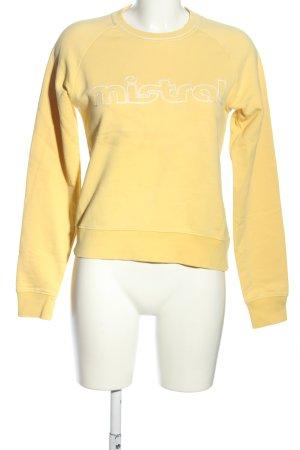 Mistral Sweatshirt blassgelb Schriftzug gedruckt Casual-Look