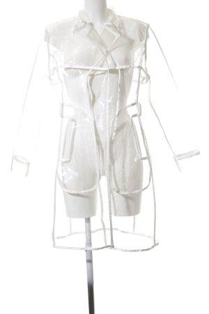 Mistress Rocks Manteau de pluie blanc style décontracté