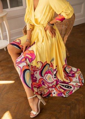 Bastet Maxi-jurk geel