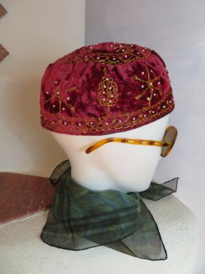 Vintage Fabric Hat multicolored