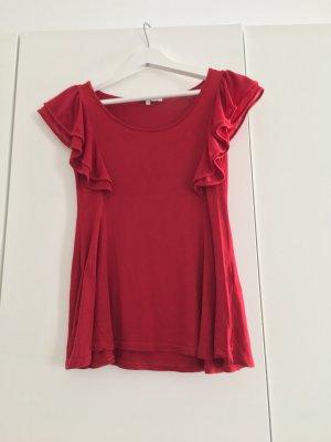 Mitn & Berry / T-Shirt mit Rüschen in knalligem Rot