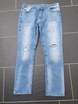 Brandalism Jeans coupe-droite bleu azur