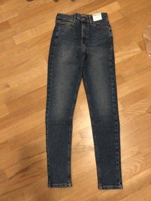 Topshop Jeans skinny bleu foncé