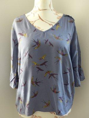 mittelblaue Shirtbluse von Saint Tropez - Größe L