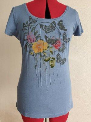 munich freedom Print Shirt slate-gray cotton