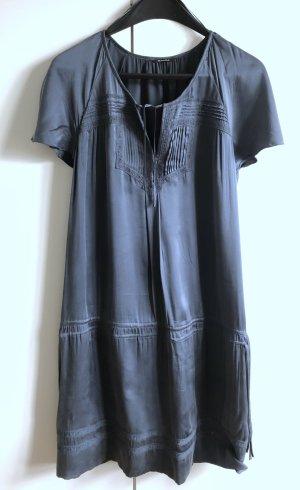 Mittelblaues Sommerkleid aus 100% Seide von Massimo Dutti