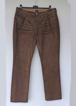 NYDJ Spodnie z pięcioma kieszeniami brąz-brązowy Bawełna
