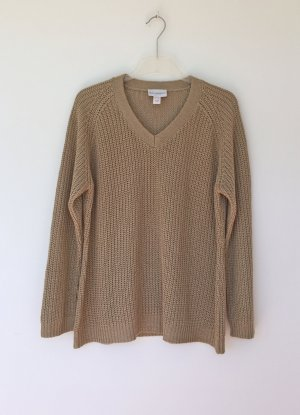 Amy Vermont Coarse Knitted Sweater beige polyacrylic