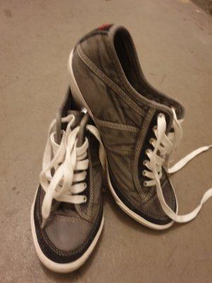 mittelgraufarbene Absatz Sneaker von Replay