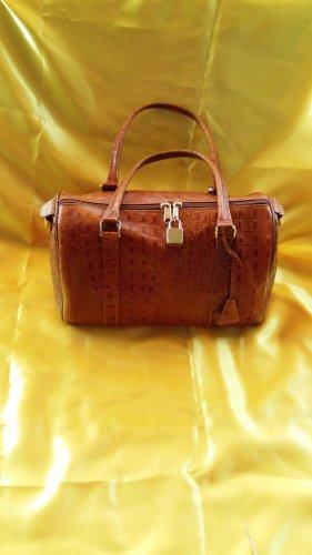 Bowling Bag cognac-coloured imitation leather