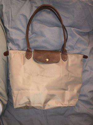 Mittelgroße longchamp Tasche in beige