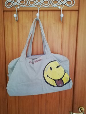 smiley world Bolso de tela gris pizarra
