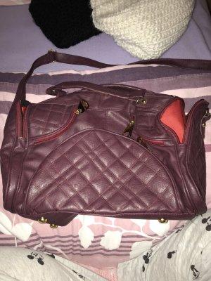 Handbag bordeaux-brown red