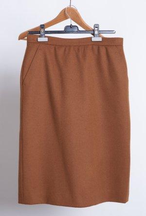 Wool Skirt cognac-coloured