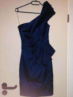 Mitternachtblaues Einseitiges Kleid