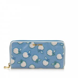 Miu Miu Wallet light blue leather