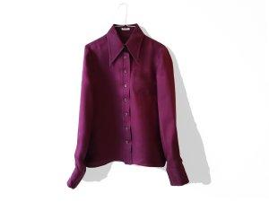 Miu Miu Chemise à manches longues bordeau soie