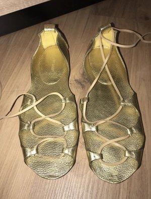 Miu Miu Ballerinas Schuhe Gold 41