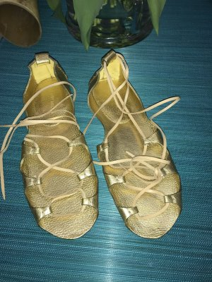 Miu Miu Ballerinas Schuhe Sommerschuhe Sandalen 41 gold