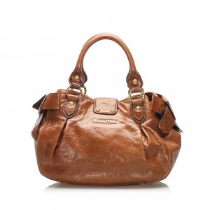 Miu Miu Bow Leather Handbag