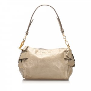 Miu Miu Bow Leather Shoulder Bag
