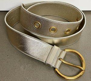 Miu Miu Cinturón de cuero color plata-color oro Cuero