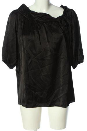 Miu Miu Bluzka typu carmen czarny W stylu biznesowym
