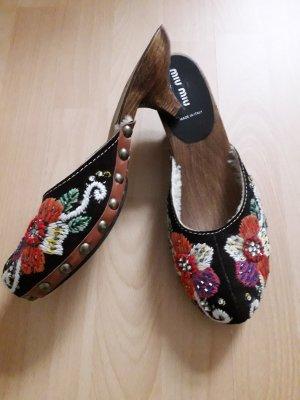 Miu Miu Sandalo con tacco multicolore