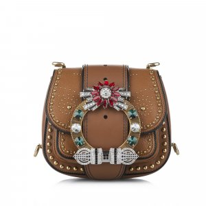Miu Miu Dahlia Leather Crossbody Bag