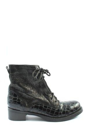 Miu Miu Chukka boot noir motif animal style décontracté