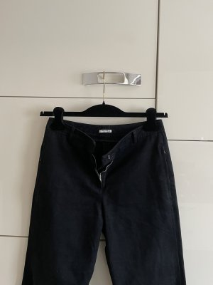 Miu Miu Pantalone boyfriend nero Cotone