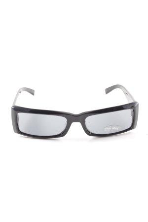 Miu Miu eckige Sonnenbrille schwarz-silberfarben Casual-Look