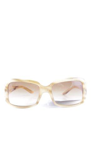 Miu Miu Occhiale da sole spigoloso beige stile casual