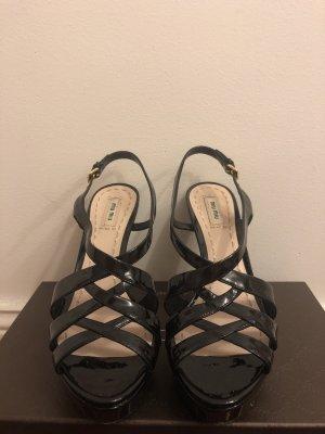 Miu Miu Edler Lederschuh high heels