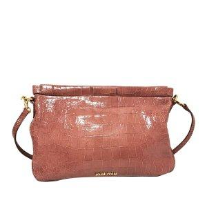 Miu Miu Embossed Patent Leather Frame Crossbody Bag