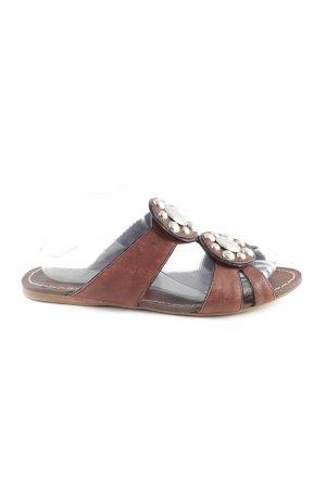Miu Miu Flip Flop Sandalen bronzefarben Casual-Look