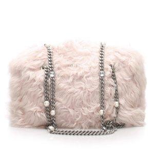 Miu Miu Fur Crystal Shoulder Bag