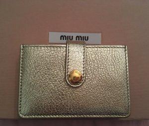 Miu Miu Porte-cartes doré