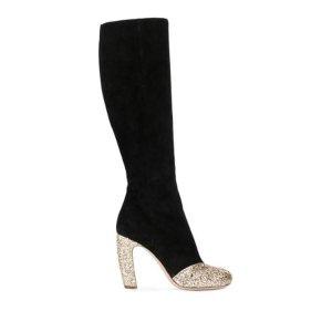 Miu Miu Glitter Suede Boots