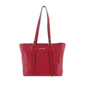 Miu Miu Tote red leather