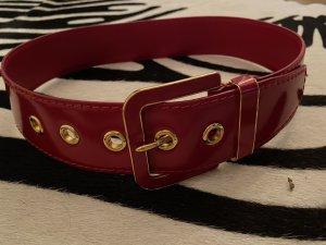 Miu Miu Cinturón pélvico carmín-color oro