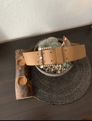 Miu Miu Leather Belt beige