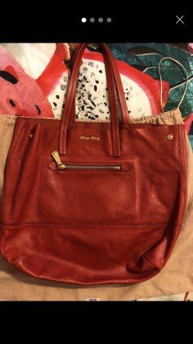Miu Miu Handbag gold-colored-red