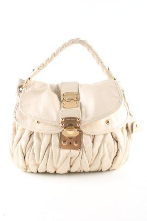 Miu Miu Handtasche wollweiß Casual-Look